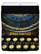 Underwood Typewriter Duvet Cover