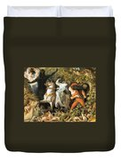 Undine And The Wood Demons Duvet Cover