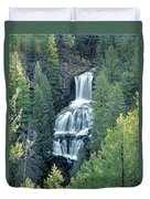 109008-undine Falls In Yellowstone Duvet Cover