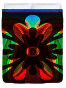 Unequivocal Truths Abstract Symbols Artwork Duvet Cover