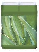 Unfolding Tulip Leaves Duvet Cover