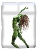 Unfurled Side View Detail Duvet Cover