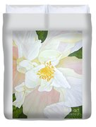 Unfurling White Hibiscus Duvet Cover