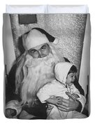 Unhappy Santa Claus Duvet Cover