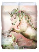 Unicorn And A Rose Duvet Cover
