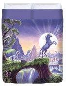 Unicorn Moon Duvet Cover