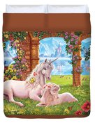 Unicorn Mother And Foal Duvet Cover