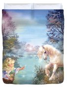 Unicorns Lake Duvet Cover
