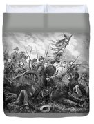 Union Charge At The Battle Of Gettysburg Duvet Cover