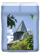Union Collage Church Duvet Cover