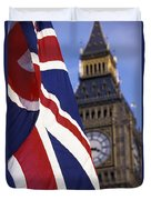 Union Flag And Big Ben Duvet Cover