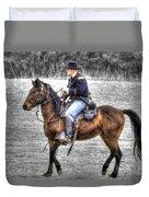 Union Horse Officer Duvet Cover