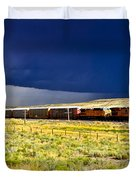 Union Pacific Racing A Thunder Storm Duvet Cover
