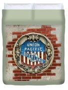 Union Pacific Crest Duvet Cover
