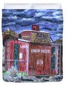 Union Pacific Train Car Painting Duvet Cover