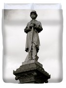 Union Soldier In Market Square Duvet Cover