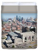 Union Station And Downtown Kansas City Duvet Cover