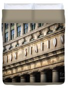 Union Station Chicago Sign And Building Duvet Cover