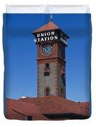 Union Station In Portland Oregon Duvet Cover