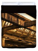 Union Station Roof Beams Duvet Cover