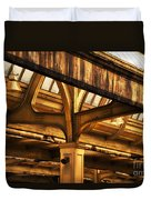 Union Station Roof Structure Duvet Cover