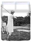 Union Suit Golfer Duvet Cover