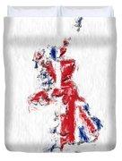 United Kingdom Painted Flag Map Duvet Cover