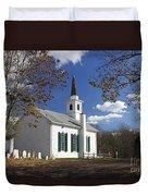 United Methodist Church Waterloo Village Duvet Cover