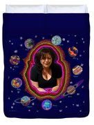 United Planets Of Mona Robin Duvet Cover