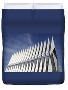 United States Airforce Academy Chapel Colorado Duvet Cover