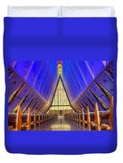 United States Airforce Academy Chapel Interior Duvet Cover