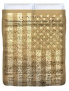 United States Declaration Of Independence Duvet Cover