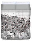 United States Map Collage 3 Duvet Cover