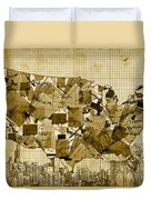 United States Map Collage 4 Duvet Cover