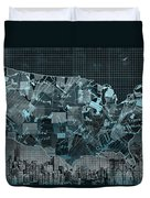 United States Map Collage 5 Duvet Cover