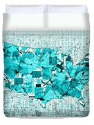 United States Map Collage 8 Duvet Cover