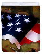 United States Map  Duvet Cover by Marvin Blaine