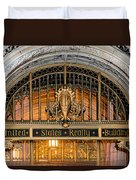 United States Realty Building Entrance Duvet Cover