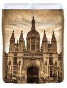 University Entrance Door Sepia Duvet Cover