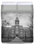 University Hall Black And White Duvet Cover