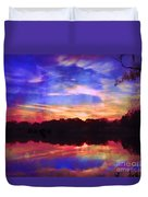 University Lakes At Twilight Duvet Cover