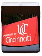 University Of Cincinnati Sign Duvet Cover
