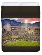 University Of Colorado Boulder Go Buffs Duvet Cover by James BO  Insogna