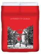 University Of Georgia - Georgia Arch - Red Duvet Cover