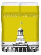 University Of Iowa - Mustard Yellow Duvet Cover
