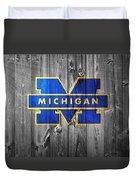 University Of Michigan Duvet Cover