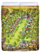 University Of Virginia Academical Village  With Scroll Duvet Cover