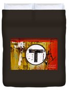 Unknown T - Railroad Art Duvet Cover