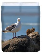 Unlikely Friends By Diana Sainz Duvet Cover by Diana Sainz