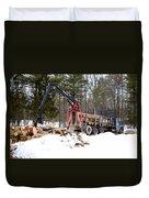Unloading Firewood 1 Duvet Cover